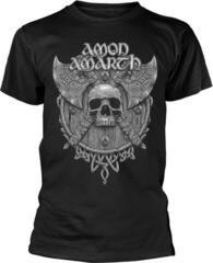 Amon Amarth Grey Skull T-Shirt Black