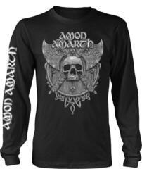Amon Amarth Grey Skull Long Sleeve Shirt Black