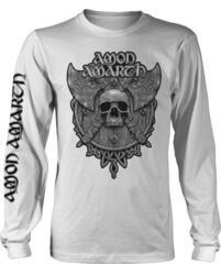 Amon Amarth Grey Skull Long Sleeve Shirt White