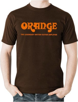 Orange Classic T-Shirt Brown M