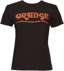 Orange Classic Ladies T-Shirt Black