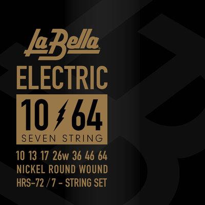 LaBella HRS-72 Nickel-Plated Round Wound – 7-String 10-64