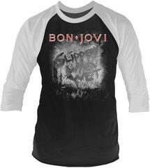 Bon Jovi Slippery When Wet 3/4 Sleeve Baseball Tee Black/White
