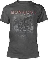 Bon Jovi Slippery When Wet Vintage Wash T-Shirt Grey