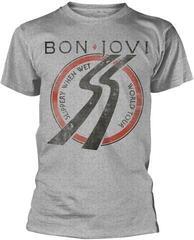 Bon Jovi Slippery When Wet Tour T-Shirt Grey