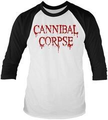 Cannibal Corpse Dripping Logo 3/4 Sleeve Baseball Tee White/Black