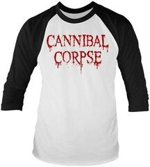 Cannibal Corpse Dripping Logo 3/4 Sleeve Baseball Tee White/Black
