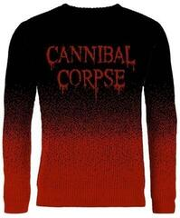 Cannibal Corpse Dripping Logo Dip Dye, Knitted Jumper Black/Red