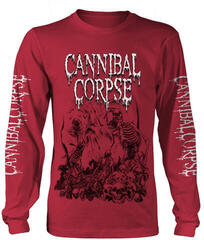 Cannibal Corpse Pile Of Skulls 2018 Red Long Sleeve Shirt Red