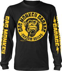 Gas Monkey Garage Big Yellow Logo Long Sleeve Shirt Black