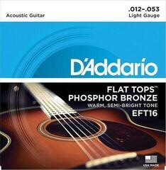 D'Addario EFT16 Phospor Bronze Flat Top .012-.053