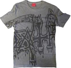 Death Large Logo Black Dye Sub with Black Overdye T-Shirt Grey