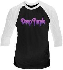 Deep Purple Logo 3/4 Sleeve Baseball Tee Black/White