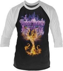 Deep Purple Phoenix Rising 3/4 Sleeve Baseball Tee Black/White