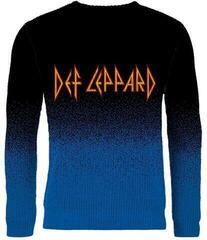 Plastic Head Def Leppard Logo Dip Dye Knitted Jumper Black/Blue