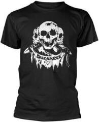 Discharge 3 Skulls T-Shirt Black