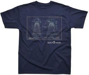 Doctor Who Dalek Blueprint T-Shirt Navy