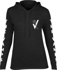 The Vamps Rosebud Womens T-Shirt Long Sleeved Hooded Black