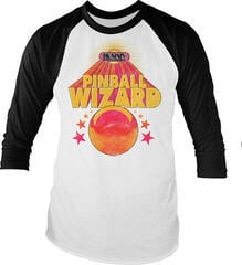 The Who Pinball Wizard Long Sleeved Baseball Shirt Black/White