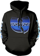 Wu-Tang Clan Logo/C.R.E.A.M. Multi-Print Hooded Sweatshirt Black