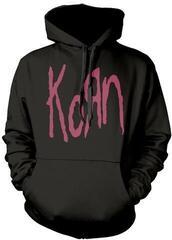 Korn Red Logo Hooded Sweatshirt Black