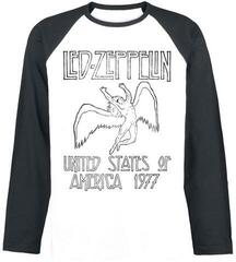 Led Zeppelin USA 77 Long Sleeved Baseball Shirt White/Black