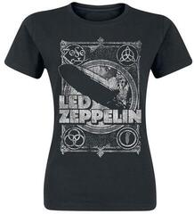 Led Zeppelin Vintage Print LZ1 Womens T-Shirt Black