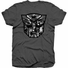 Hasbro Unisex Tee Transformers Autobot Shield Black/White S