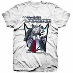 Hasbro Unisex Tee Transformers Megatron White