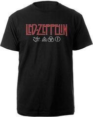 Led Zeppelin Unisex Tee Logo & Symbols Black