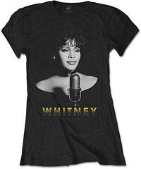 Whitney Houston Ladies Tee Black & White Photo Black