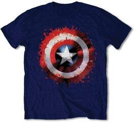 Marvel Comics Unisex Tee Captain America Splat Shield Navy Blue
