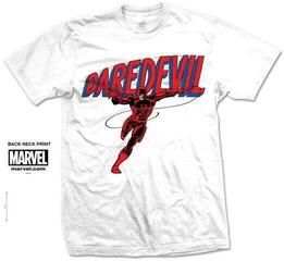 Marvel Comics Unisex Tee Dare-Devil Logo White