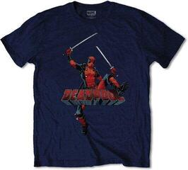 Marvel Comics Unisex Tee Deadpool Logo Jump Navy Blue