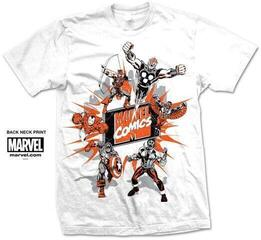 Marvel Comics Unisex Tee Marvel Montage 2. White