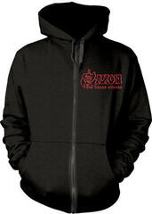 Saxon Strong Arm Of The Law Hooded Sweatshirt Zip Black