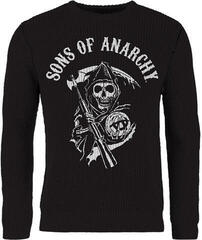 Sons Of Anarchy Skull Reaper Knitted Jumper Black
