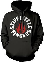 Plastic Head Stiff Little Fingers Punk Hooded Sweatshirt Black