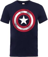 Marvel Comics Captain America Distressed Shield T-Shirt Navy