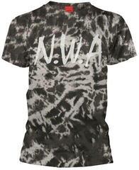 N.W.A . Logo Tie Dye T-Shirt Black-Grey