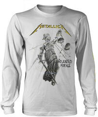 Metallica And Justice For All Long Sleeve Shirt White
