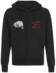 Metallica Cliff Burton Fists Hooded Sweatshirt Zip Black