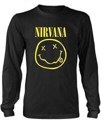 Nirvana Smiley Logo Long Sleeve Shirt Black