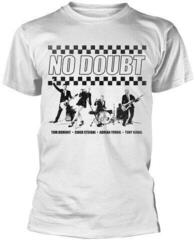 No Doubt Chequer Distressed T-Shirt White