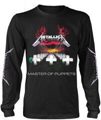 Metallica Master Of Puppets Tracks Long Sleeve Shirt Black