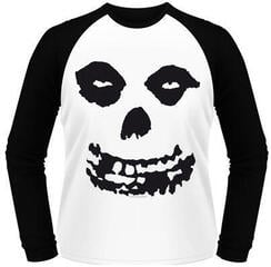 Misfits All Over Skull Long Sleeved Baseball Shirt White/Black