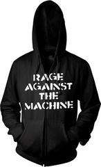 Rage Against The Machine Large Fist Hooded Sweatshirt Zip Black