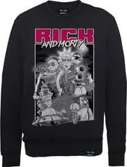Rick And Morty X Absolute Cult Guns Crew Neck Sweater Black