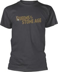 Queens Of The Stone Age Text Logo Metallic T-Shirt Grey