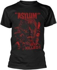 Plan 9 Asylum Red T-Shirt Black